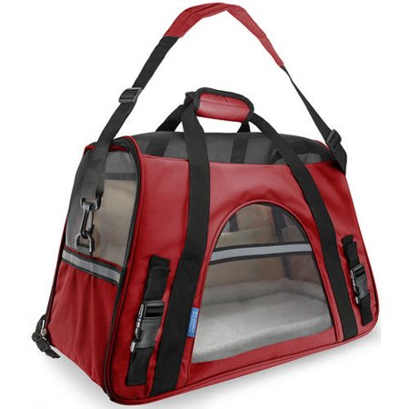 OxGord Soft Sided Cat/Dog Pet Carrier - FAA Airline Approved-Red-Small-Daily Steals