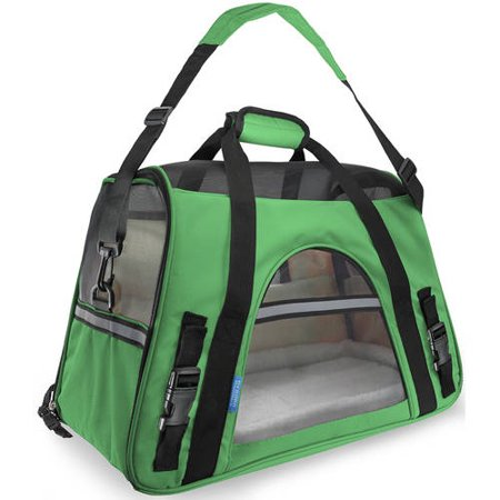 OxGord Soft Sided Cat/Dog Pet Carrier - FAA Airline Approved-Green-Small-Daily Steals