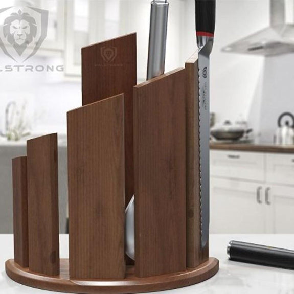 DALSTRONG Knife Block - 'Dragon Spire' Double-Sided Magnetic Walnut Block-