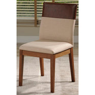 Duke Dining Chair with Synthetic Leather-Dark Beige and Brown-Daily Steals