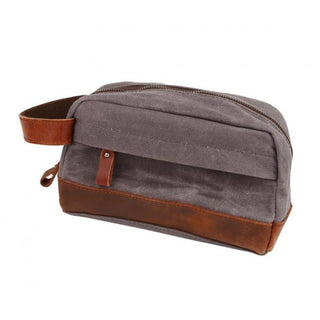 Daily Steals-Classic Canvas Leather Toiletry Bag -