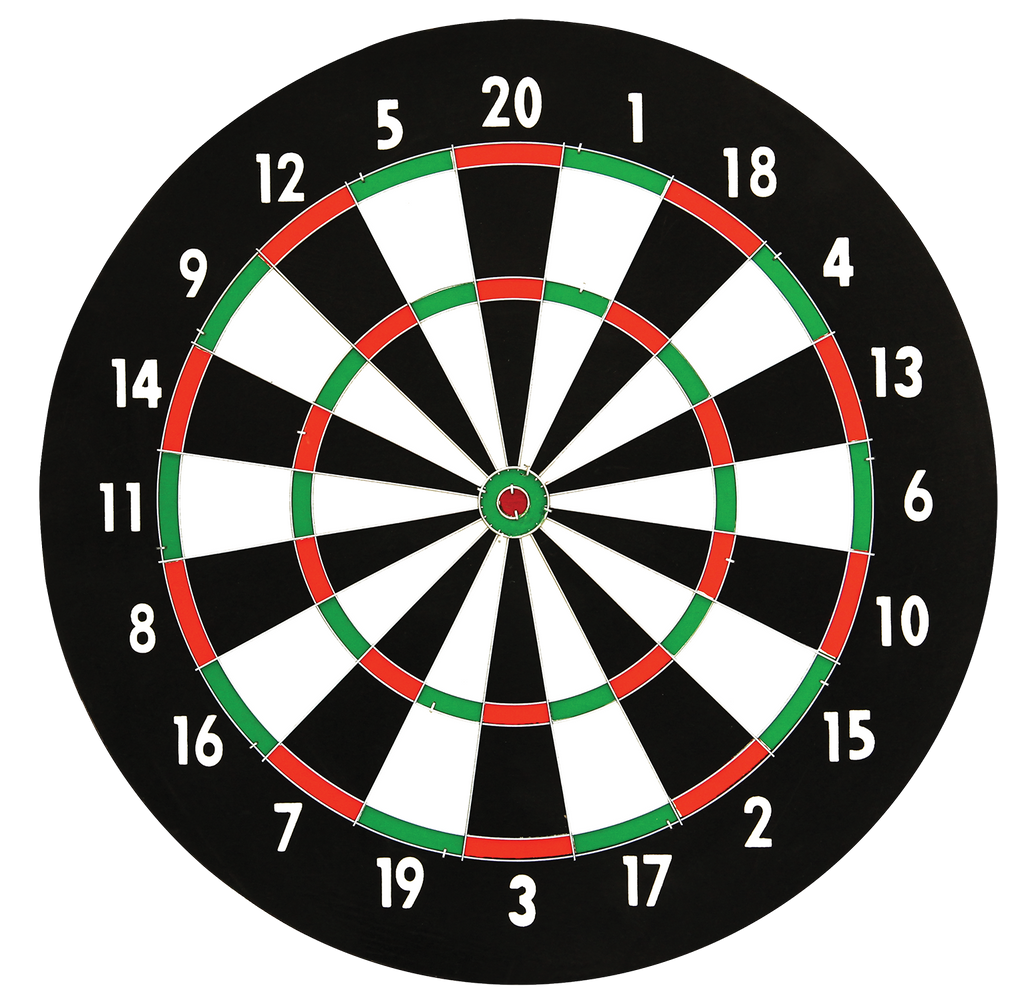 Daily Steals-Dartboard (14 Diameter) with 6 Metal Tip Darts-Hobby and Toys-