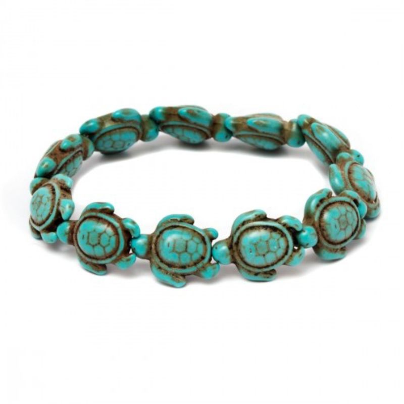 Turquoise Handmade Hawaiian Sea Turtles Bracelet