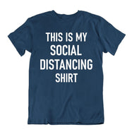 """This Is My Social Distancing Shirt"" T-Shirt-Navy Blue-M-Daily Steals"