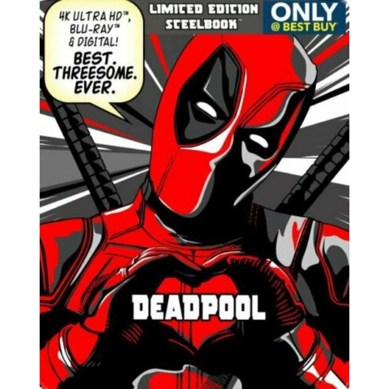 Deadpool 2 Year Anniversary Limited Edition Steelbook Movie 4K UHD Bluray Digital-Daily Steals