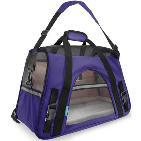 OxGord Soft Sided Cat/Dog Pet Carrier - FAA Airline Approved-Purple-Small-Daily Steals