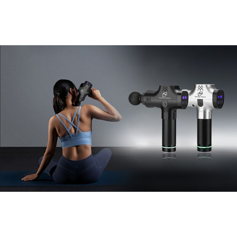 Deep Tissue Percussion Handheld Massage Gun with 6 Interchangeable Heads-Daily Steals