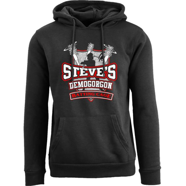 Women's Best of Stranger Things Hoodie-Steve's Demogorgon Batting Cage - Black-S-Daily Steals