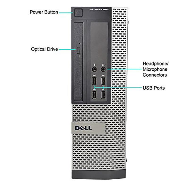 Dell OptiPlex 990 Desktop with Intel Core i5, 4GB RAM, 500GB Hard Drive, Windows 10 Home-Daily Steals