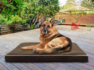 Daily Steals-Deluxe Indoor / Outdoor Water-Resistant Orthopedic Pet Bed-Pets-Espresso-S-