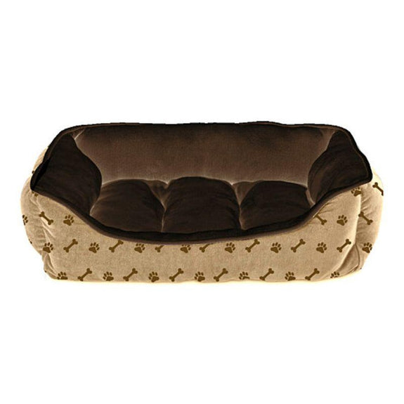 Deluxe Ultra-Soft Hypoallergenic Cuddler Pet Bed-Chocolate-