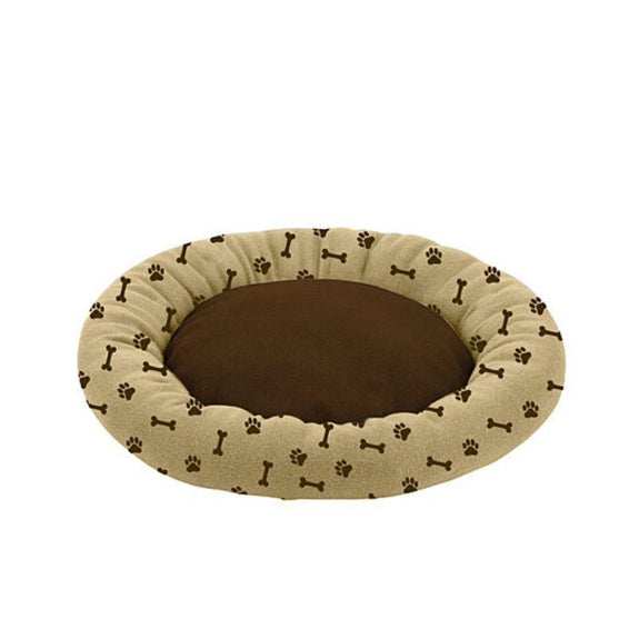 "Deluxe Ultra-Soft Orthopedic 23"" Round Cuddler Pet Beds-Tan-"