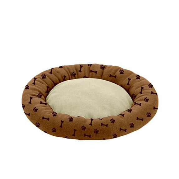 "Deluxe Ultra-Soft Orthopedic 23"" Round Cuddler Pet Beds-Chocolate-"