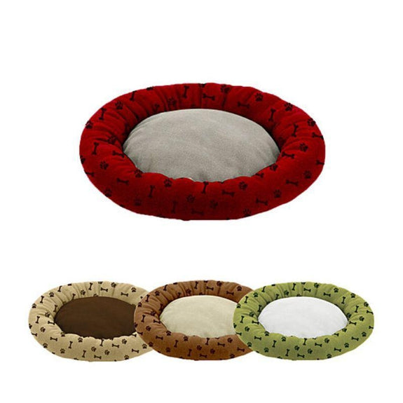 "Deluxe Ultra-Soft Orthopedic 23"" Round Cuddler Pet Beds-Burgundy-"