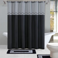 Designer Bath Poly-Acrylic 15-Piece Bathroom Set-Grey-Daily Steals