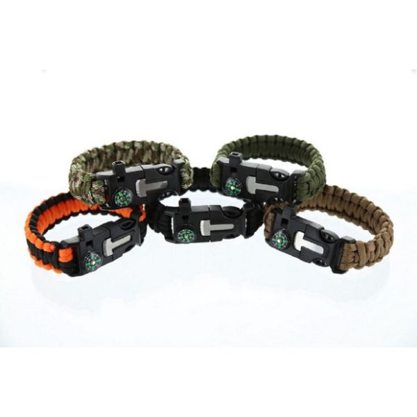 Daily Steals-5-in-1 Survival Bracelet - 2 Pack-Outdoors and Tactical-Beige-