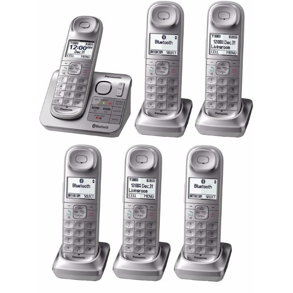 Daily Steals-Panasonic Link2Cell Expandable Bluetooth Cordless Phone System-Home and Office Essentials-