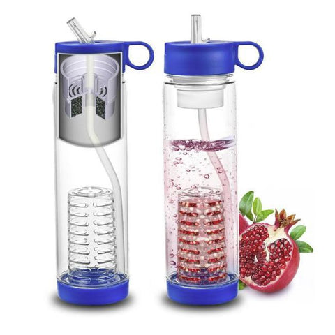 Basily Filter Water Bottle - Fruit Infuser - 25oz