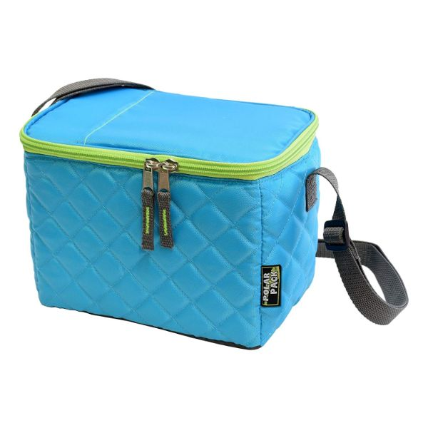 POLAR PACK Quilted 6 Can Cooler-Navy-Daily Steals