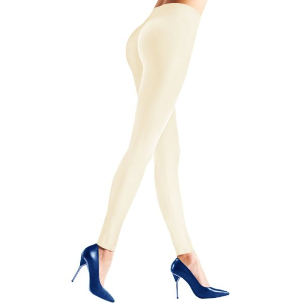 Womens Seamless Body Shaper Premium Stretch Leggings-IVORY-S/M-Daily Steals