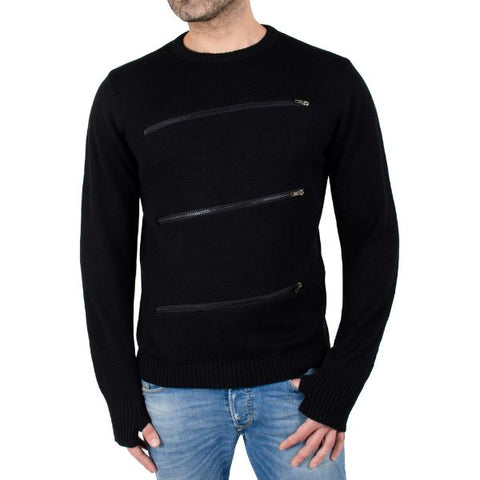 Daily Steals-Men's Fashion Crewneck Sweater Pullover with Zipper Detail-Men's Apparel-S-