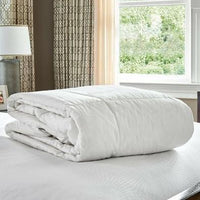 Daily Steals-Revival New York Goose Down & Feather 100% Cotton Comforter - Duvet Insert White-Home and Office Essentials-Full-