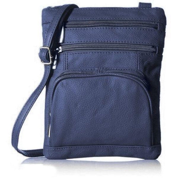 Daily Steals-Super Soft Leather Plus Size Crossbody Bag-Women's Accessories-Navy-