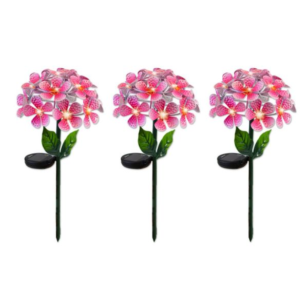 Solar LED Metal Flower Stake Lights - 1, 2, or 3 Pack-Pink-3-Pack-Daily Steals