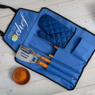 Deco Chef 3-Piece BBQ Utensil Set with Apron-Daily Steals