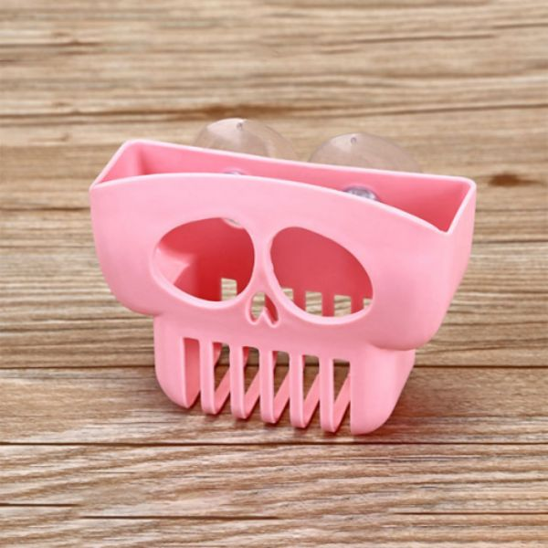 Skeleton Designed Kitchen Bathroom Suction Cup Sponge Holder - 3 Pack - 3 Colors-Pink-Daily Steals