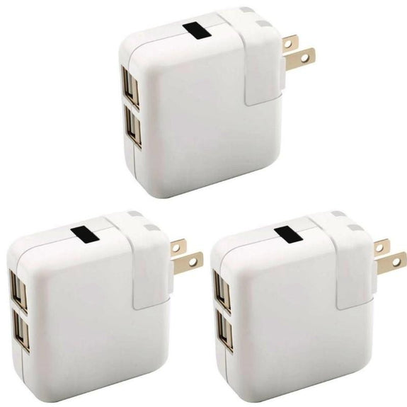 4-Port USB 40W Universal Wall Charger-3-Pack-Daily Steals