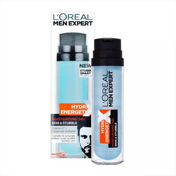 L'Oreal Men's Expert Hydra Energetic Anti Fatigue Daily Moisturizer, 50 ml + Skin & Stubble Moisturizing Gel 50 ml-Daily Steals