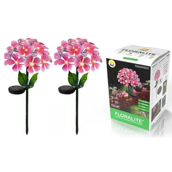 Solar LED Metal Flower Stake Lights - 1, 2, or 3 Pack-Pink-2-Pack-Daily Steals