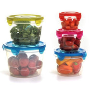 Daily Steals-Diamond Home Food Storage Container 5 Piece Set - Round Style-Home and Office Essentials-