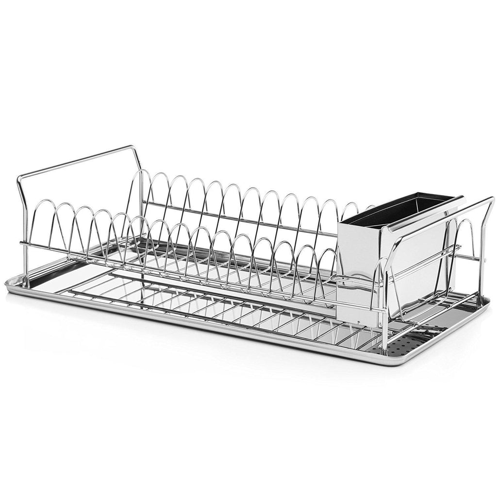 Daily Steals-Diamond Metal Dish Drying Rack For Home Use with Cutlery Holder-Home and Office Essentials-