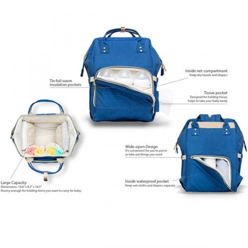 Daily Steals-Diaper Bag Backpack- 9 Colors-Accessories-