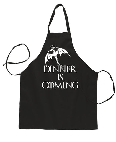 update alt-text with template Daily Steals-Dinner is Coming Funny BBQ Baking Cooking Apron-Kitchen-