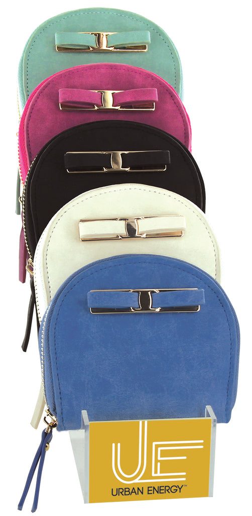 Daily Steals-Zip-Around Curved Closure Wallet with Four Card Slots-Accessories-