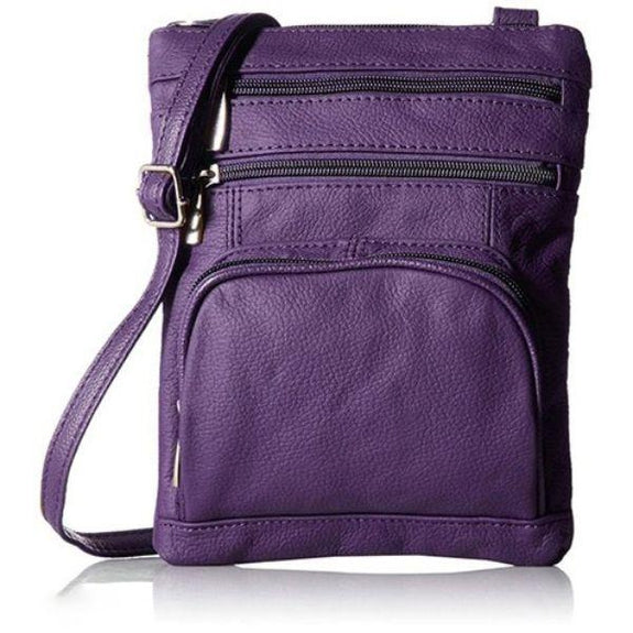 Daily Steals-Super Soft Leather Plus Size Crossbody Bag-Women's Accessories-Purple-
