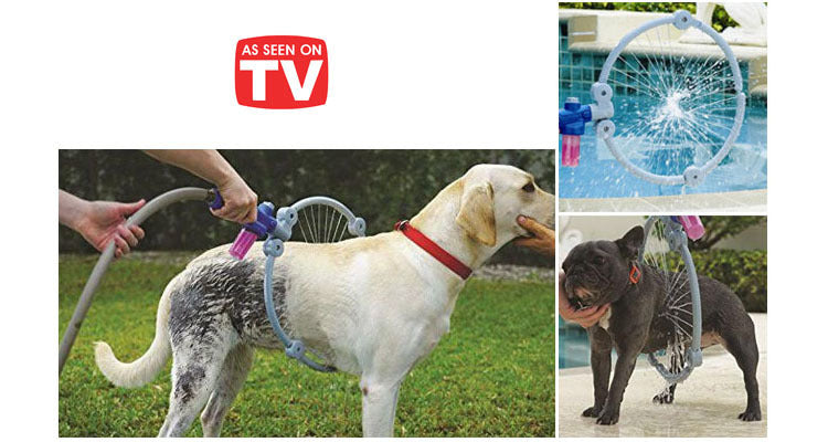 Woof Washer 360 Perfect Dog Washing Wand and Shampoo Dispenser-Daily Steals