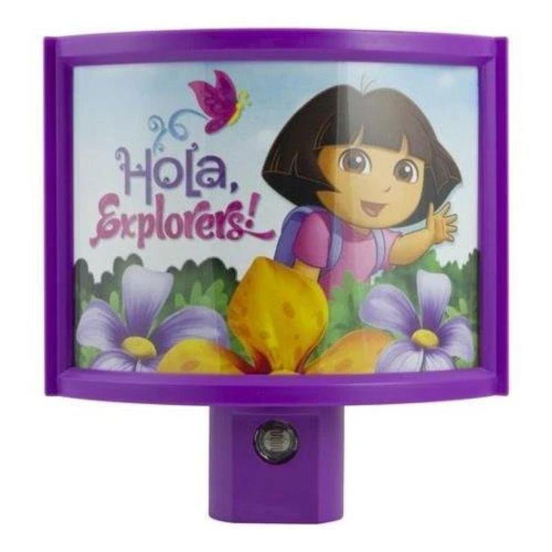 Dora The Explorer Automatic LED Purple Night Light-