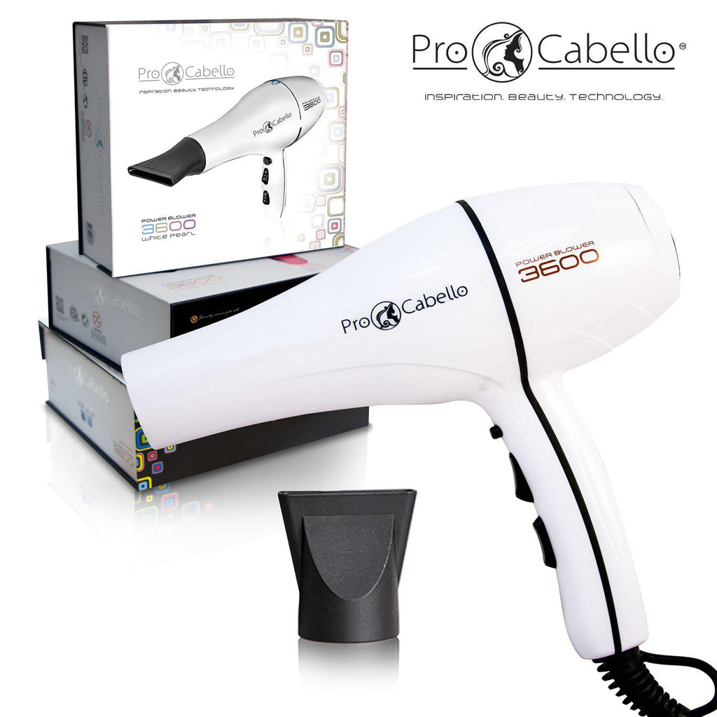 ProCabello 3600 Power Hair Dryer with Tourmaline Technology-White-Daily Steals