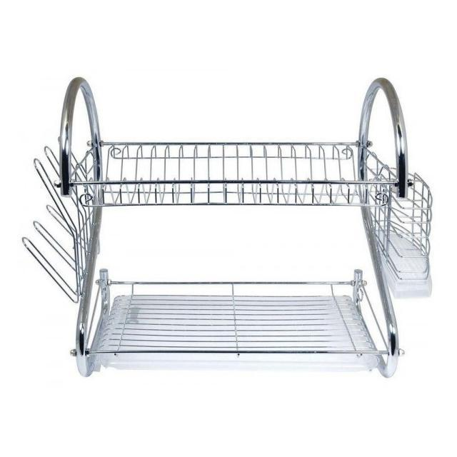 "Two-Tier Stainless-Steel Dish Rack - Two Sizes-16"" Rack-Daily Steals"