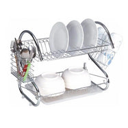 "Two-Tier Stainless-Steel Dish Rack - Two Sizes-22"" Rack-Daily Steals"