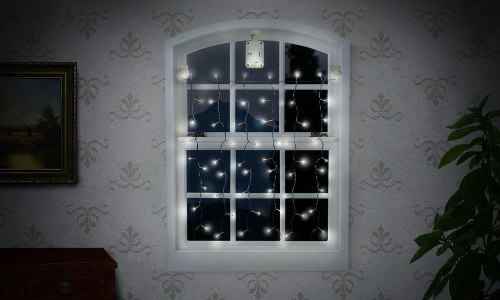 Solar-Powered Window Drape LED Lights (1-, 2-, or 4-Pack)-Daily Steals