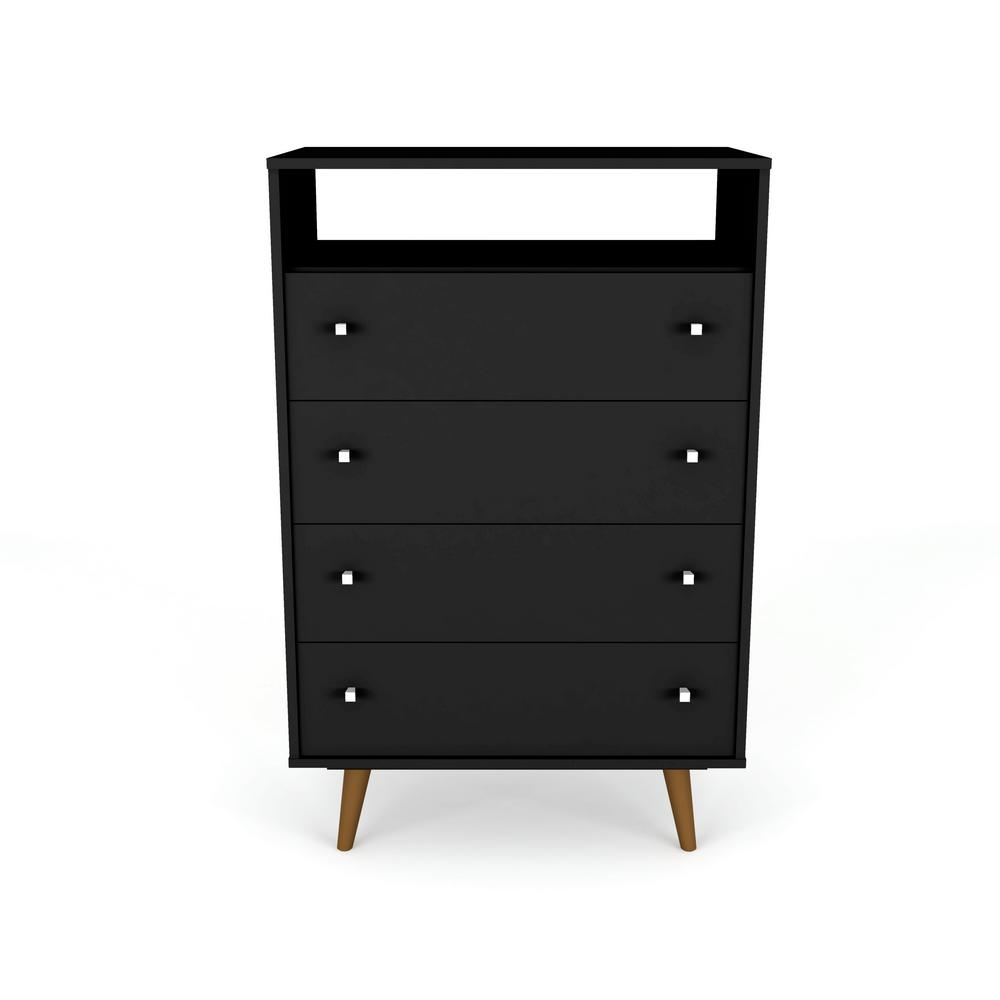 Liberty 4-Drawer Bedroom Dresser and TV Stand-Black-Daily Steals