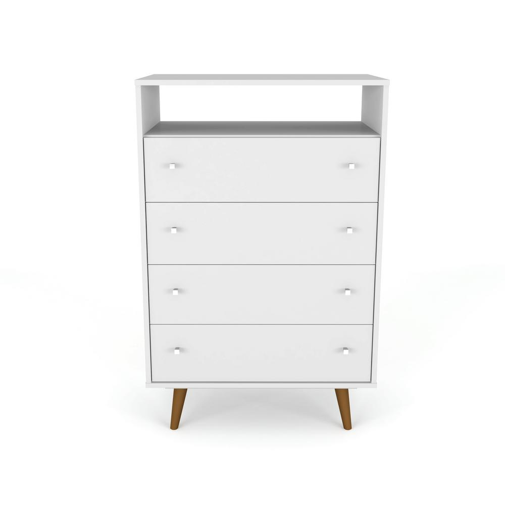 Liberty 4-Drawer Bedroom Dresser and TV Stand-White-Daily Steals