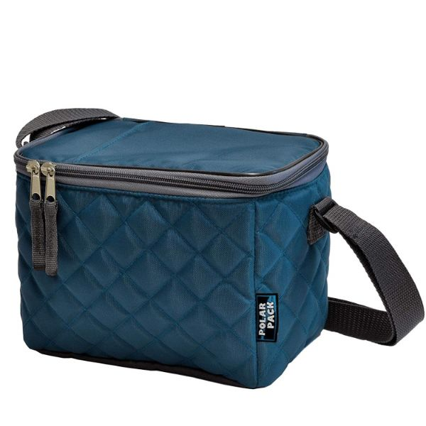 POLAR PACK Quilted 6 Can Cooler-Teal-Daily Steals