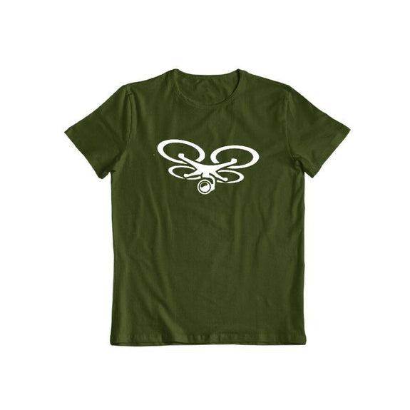 T-Shirt Drone Camera-Vert Forêt-S-Daily Steals