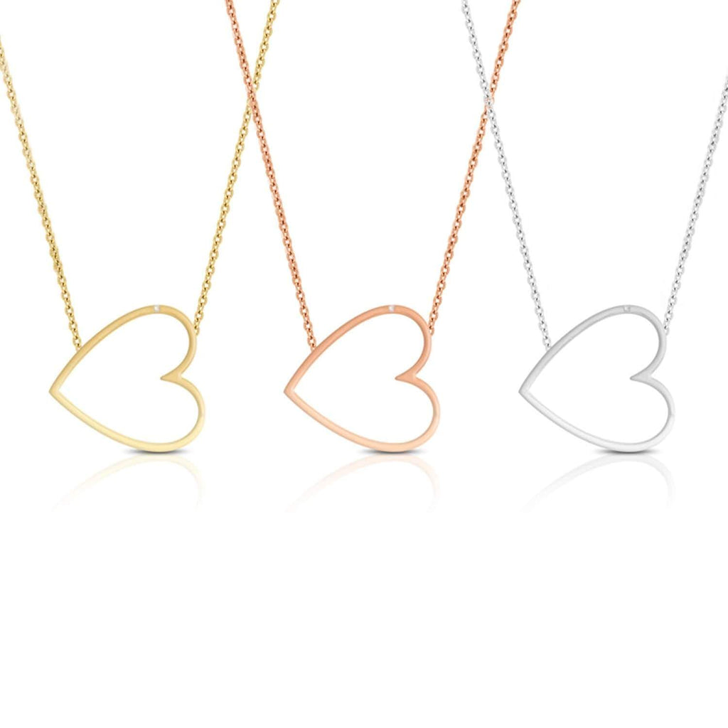 Daily Steals-Drop Heart Necklace - 3-Pack-Jewelry-